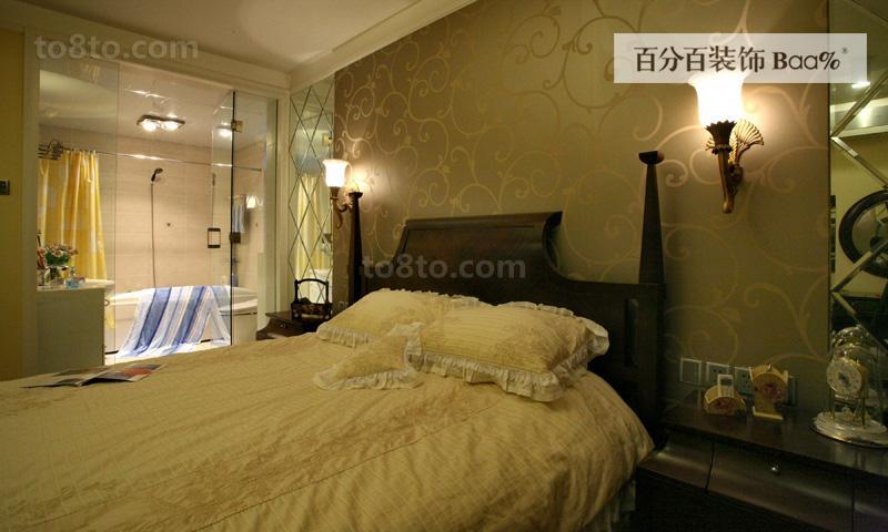 精美76平米田园小户型卧室装修实景图片