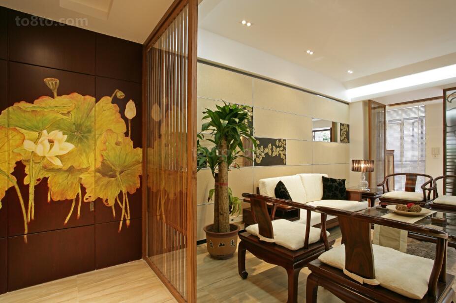 精选84平米中式小户型休闲区装修设计效果图片大全