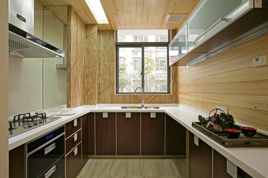 77平米中式小户型厨房装修图片大全