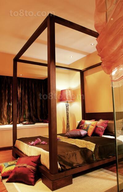 热门80平米中式小户型卧室效果图片欣赏