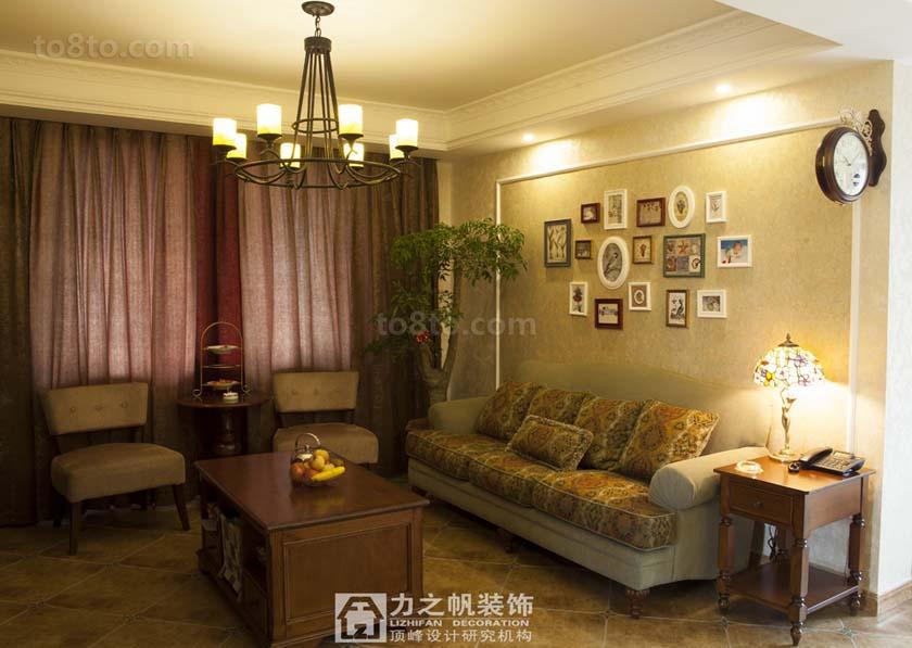 2018精选面积84平小户型客厅美式实景图