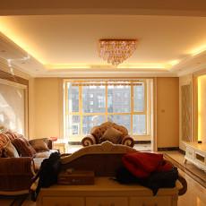 欧式风格小户型客厅装修图片欣赏2014