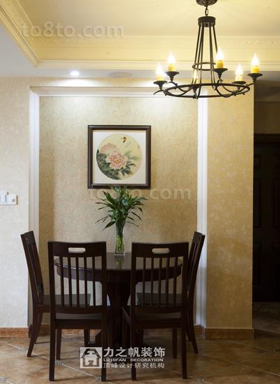 热门面积76平小户型餐厅美式装修设计效果图片欣赏
