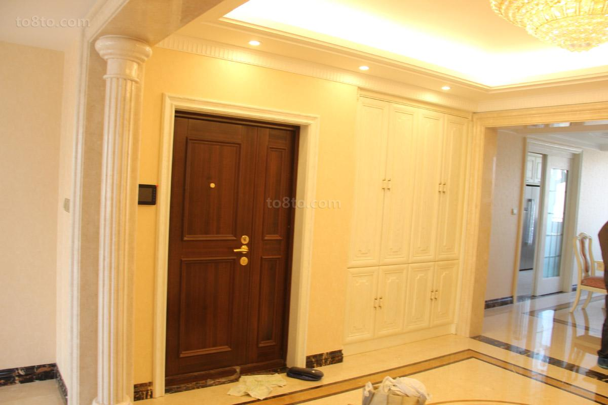 面积90平小户型玄关欧式装修设计效果图片