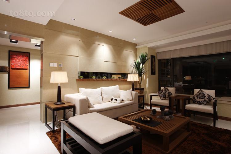 精选81平米中式小户型客厅装修实景图