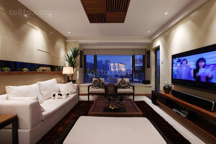 二居休闲区中式装饰图