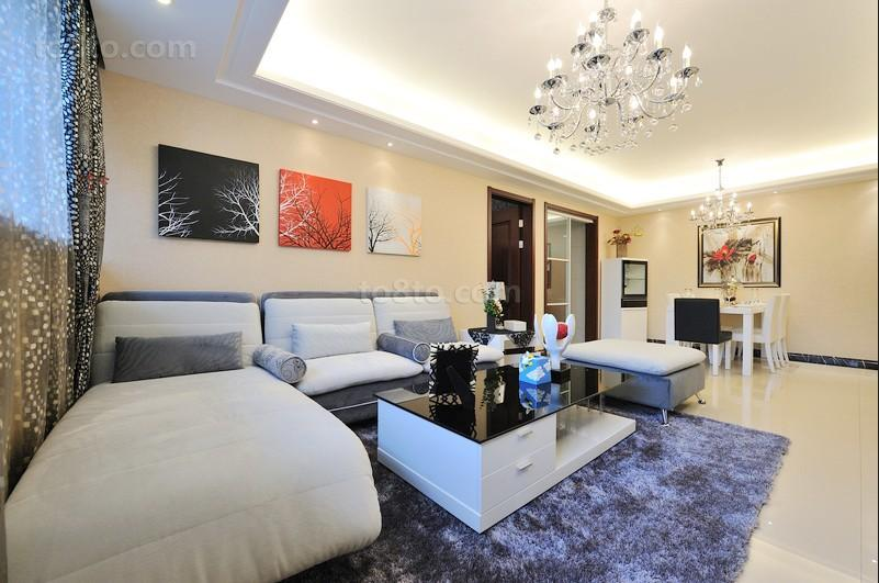 热门83平米简约小户型休闲区装修设计效果图片欣赏