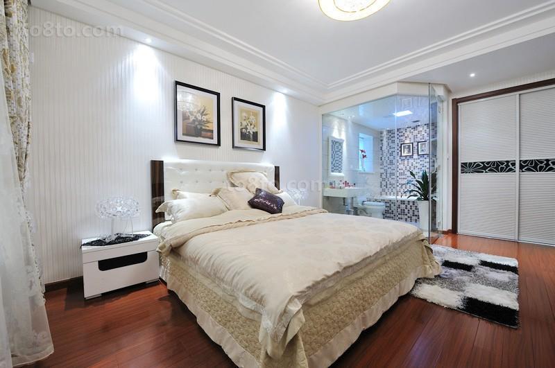 精选面积78平小户型卧室简约实景图片
