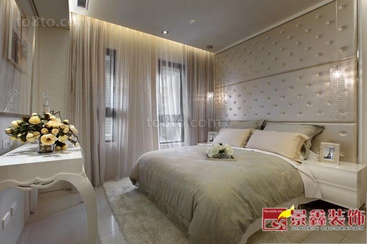 面积76平小户型卧室欧式装修欣赏图片大全