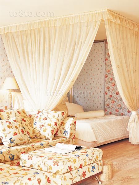 精选72平米田园小户型卧室装修设计效果图