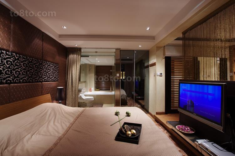 2018精选84平米中式小户型卧室装修设计效果图片欣赏