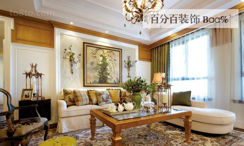 热门86平米二居休闲区田园装修实景图片欣赏