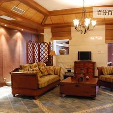复古风格豪华别墅客厅断装修效果图