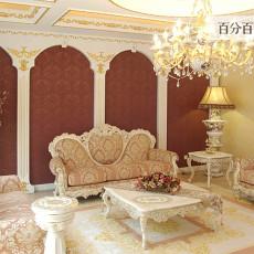 86平米欧式小户型客厅装饰图片