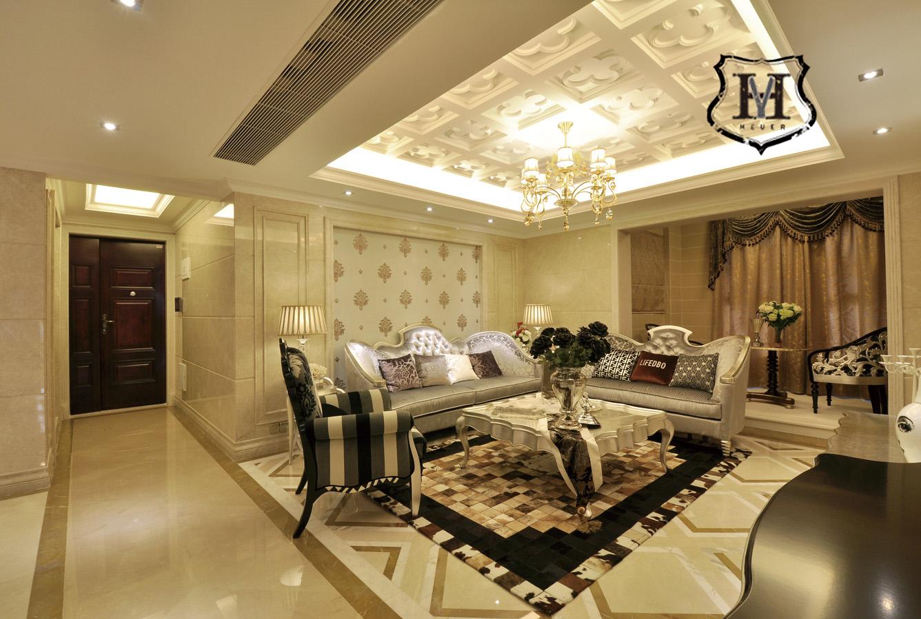 140平米现代欧式风格四居室装修图片