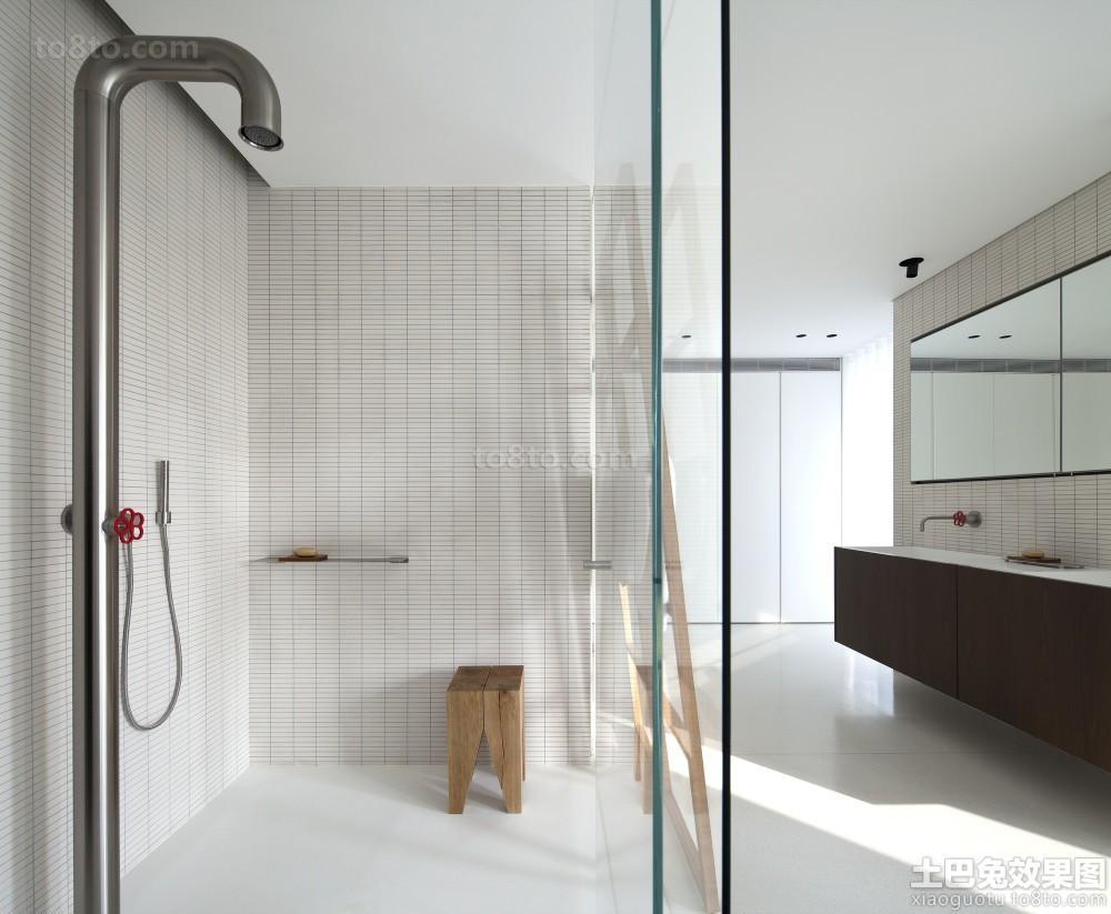 极简主义风格卫生间玻璃隔断效果图欣赏