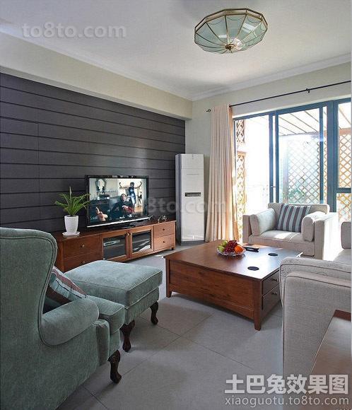 家装二居室客厅电视背景墙图片
