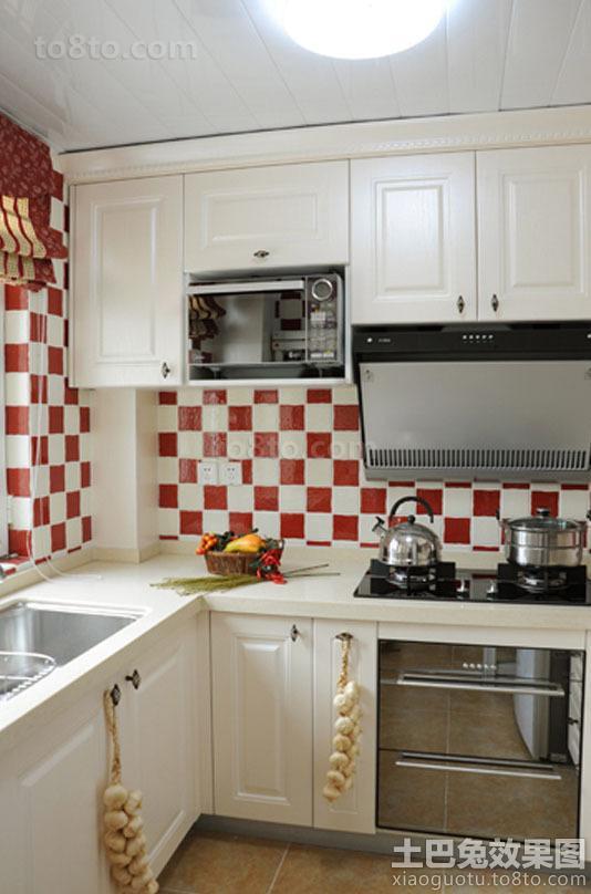 田园风格白色厨房橱柜图片欣赏