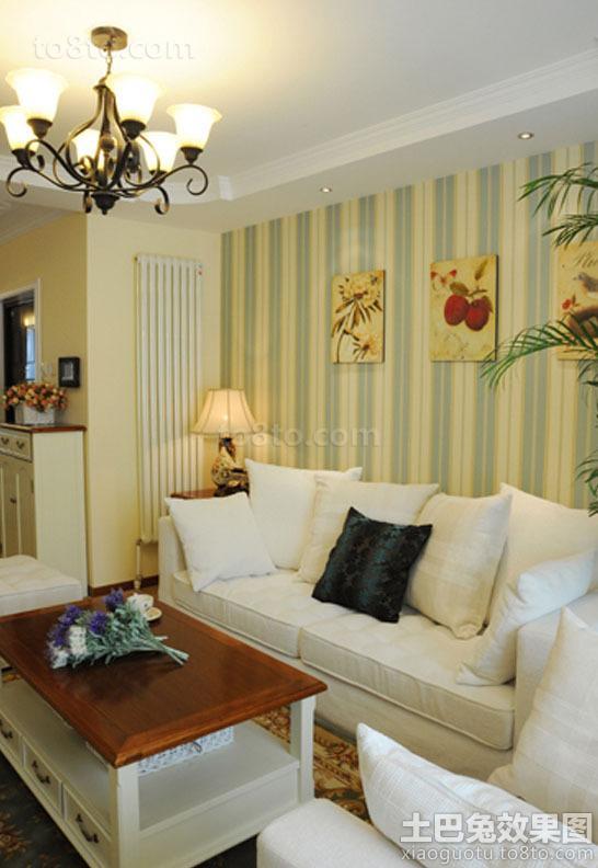 美式田园风格一室一厅装修效果图大全2014图片