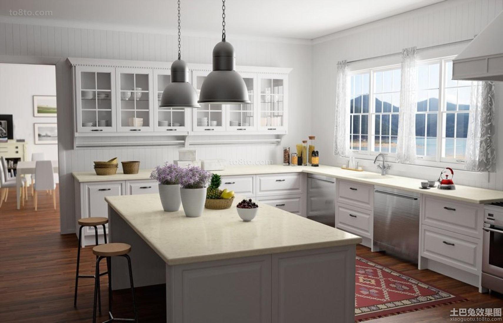 简欧风格装修房屋厨房设计