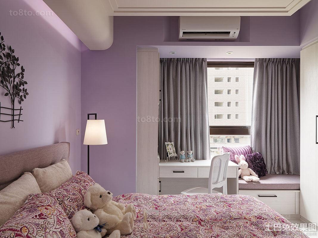田园家居卧室飘窗装修