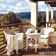 美式装修露天阳台设计图片欣赏