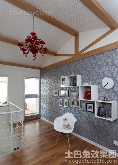 美式设计室内阁楼图片