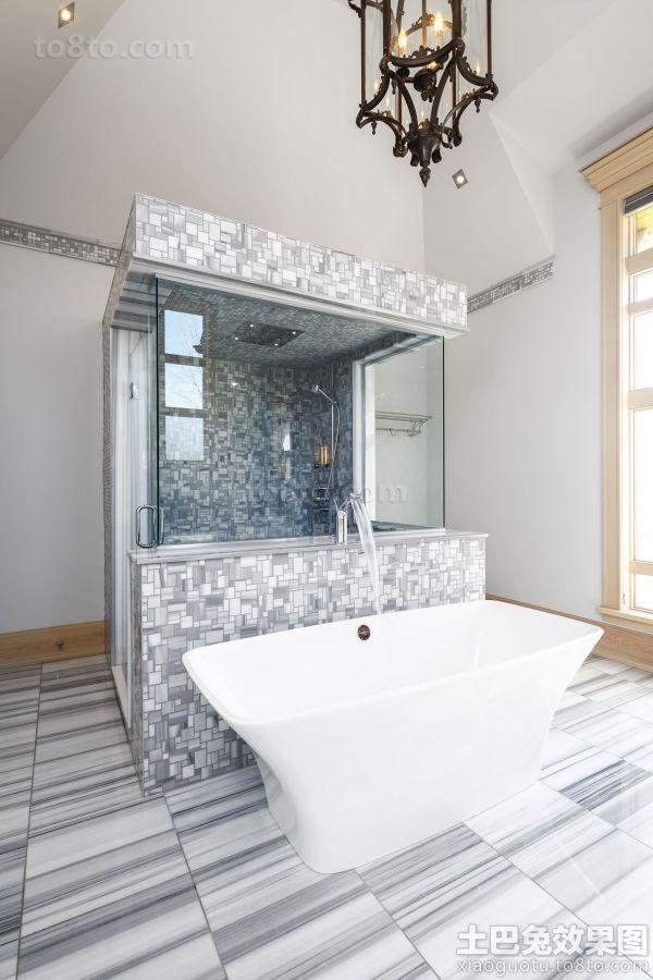 家庭设计装修卫生间浴池图片