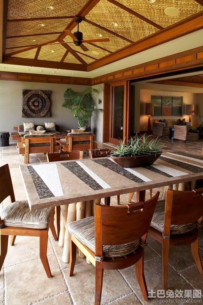 东南亚风格别墅起居室装修效果图