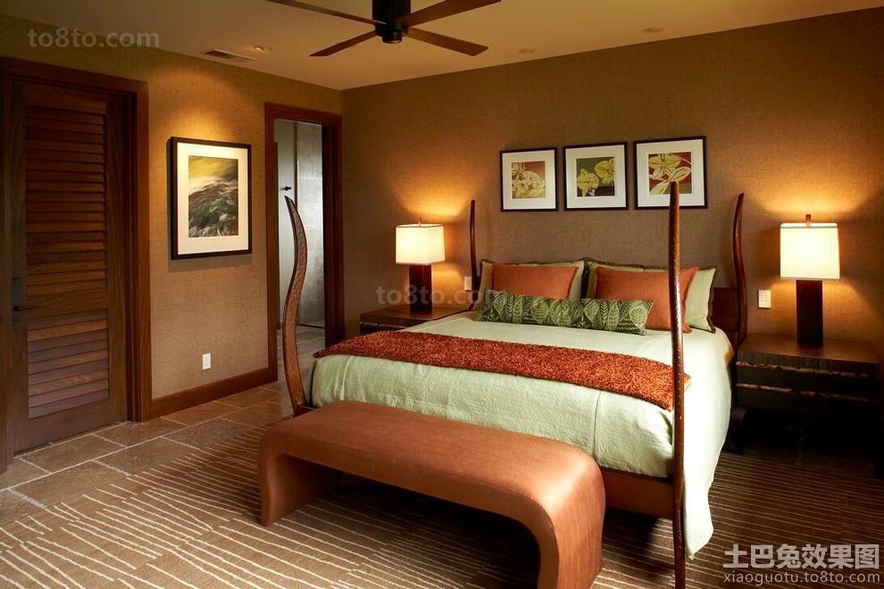 东南亚别墅卧室装潢设计
