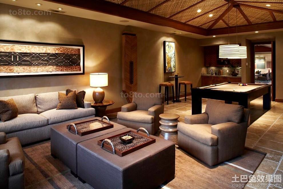 东南亚别墅装修客厅图片欣赏