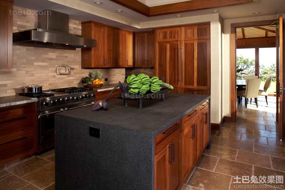 东南亚家装厨房实木装修图片