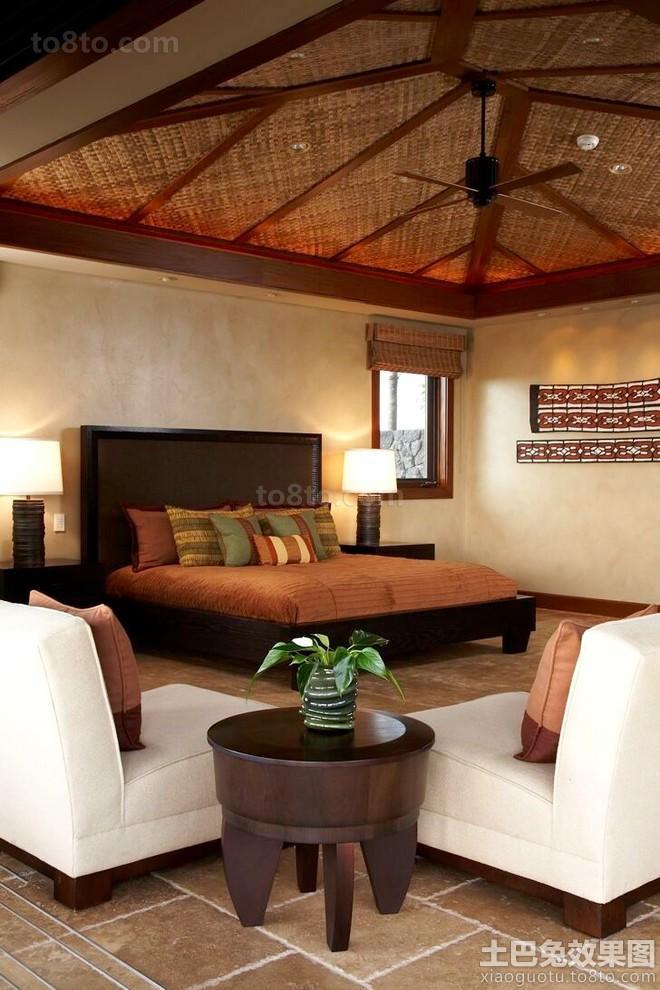 东南亚风格卧室装修图片2014