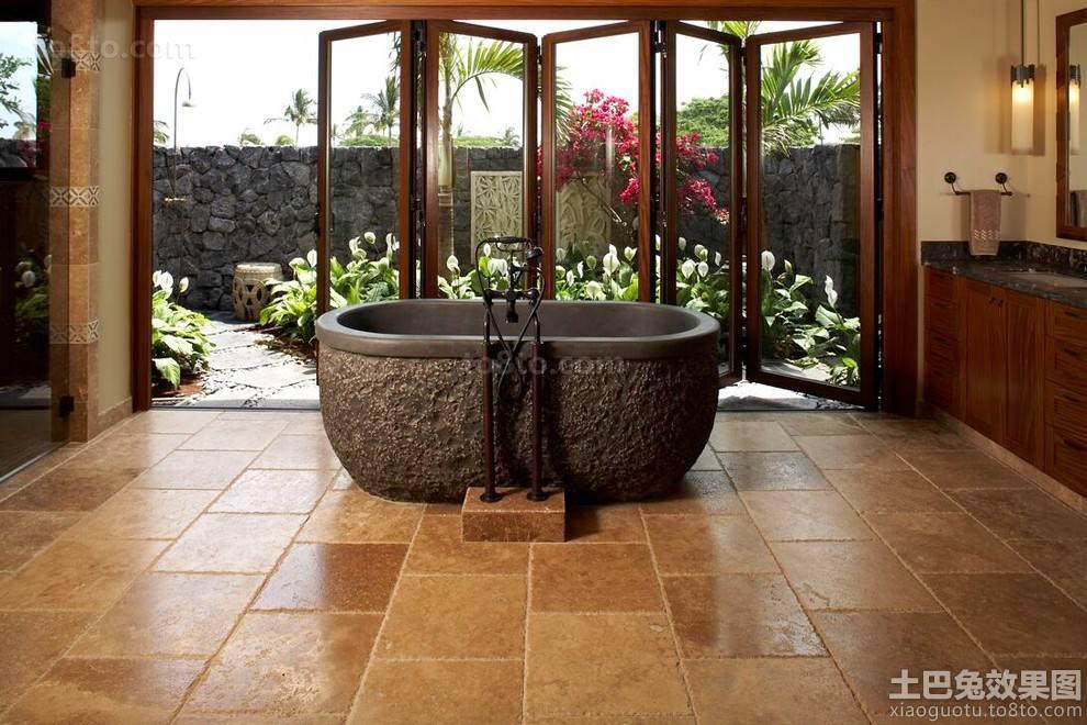 东南亚别墅浴室仿古装修效果图