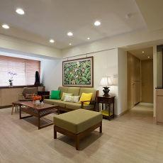 日式简约风格装修客厅效果图片