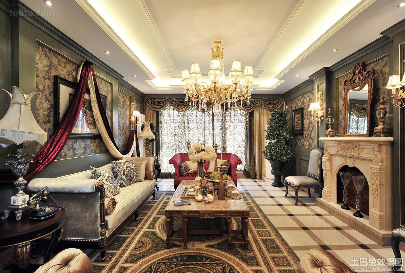 欧式复古装修三居室设计效果图大全欣赏