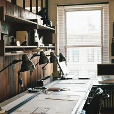书房入墙写字台效果
