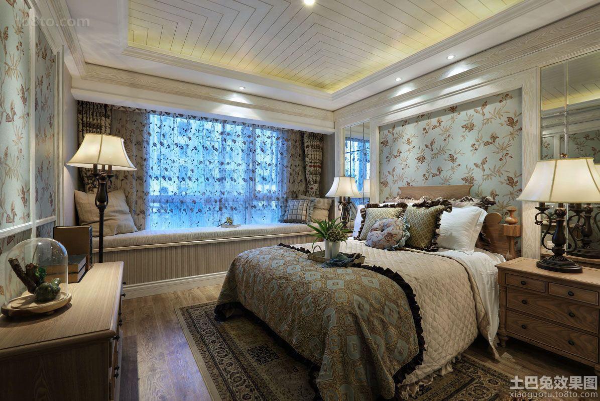 欧式田园样板间卧室装修图片