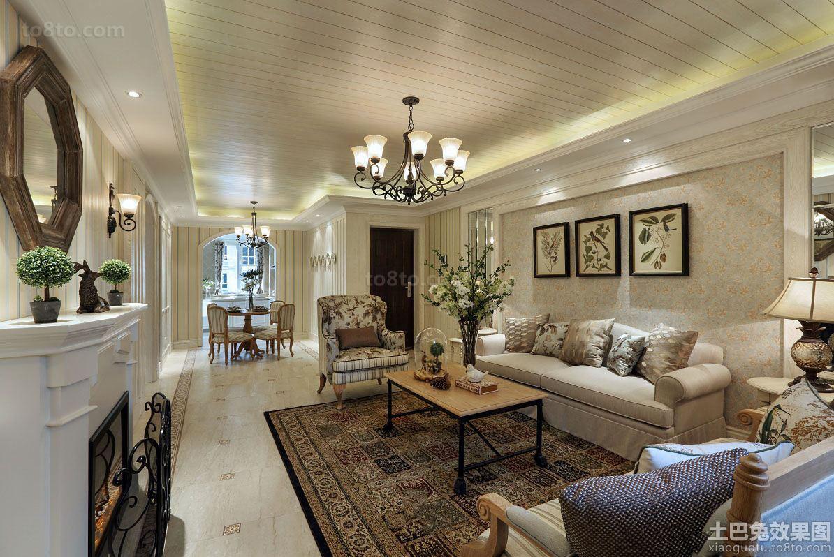 欧式田园风格两室一厅家庭装修图片大全