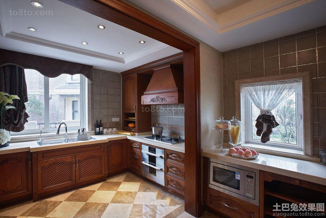 欧式古典风格厨房垭口图片