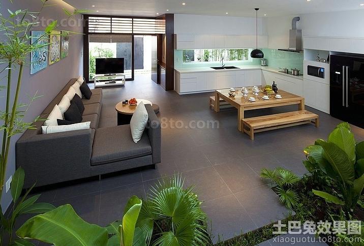日式东南亚设计客厅效果图