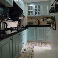 地中海公寓L型厨房装修效果图