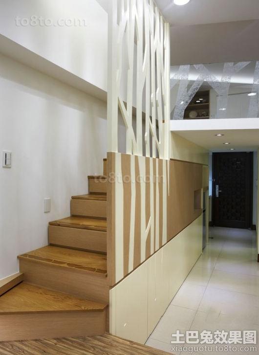 日式loft公寓木楼梯装修图片