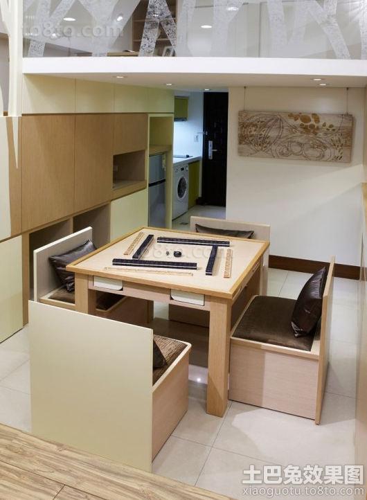 日式简约风格室内麻将房装修