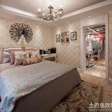 田园风格大卧室装修图片欣赏2015