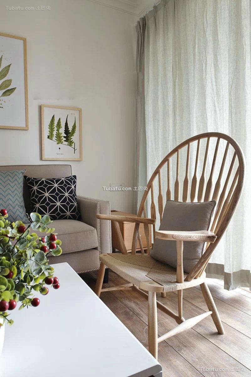 客厅实木家具椅子图片