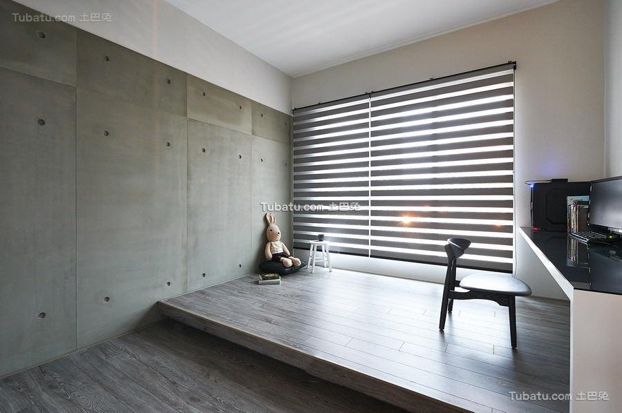 百叶窗榻榻米窗台设计图片