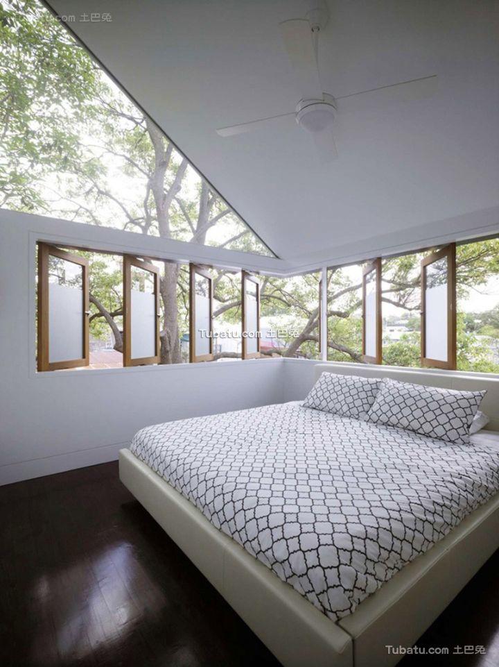 美式家庭设计时尚阁楼卧室图片