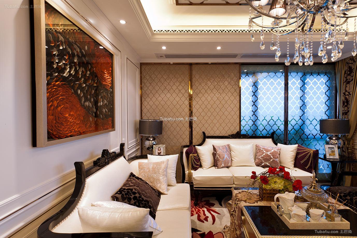 现代古典风格客厅效果图大全