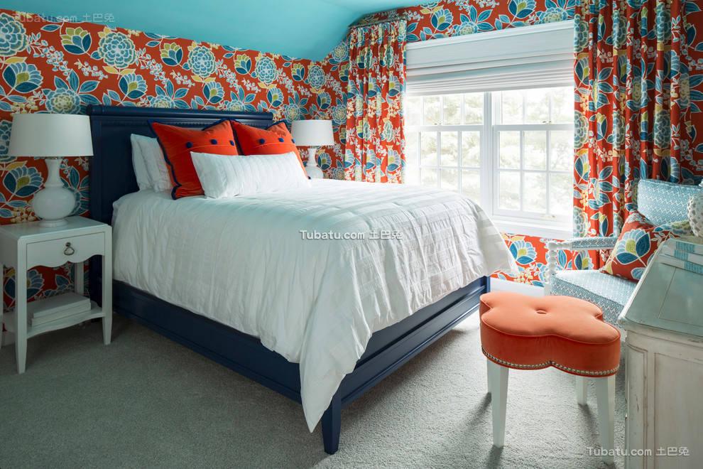 田园设计卧室效果图欣赏大全